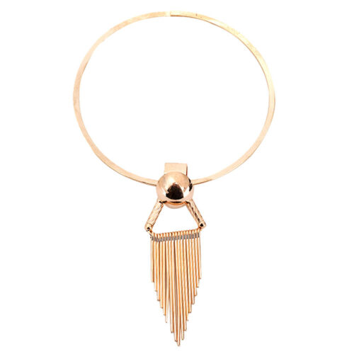 Femme Collier Chocker Triangle Franges Bib Chaîne Chandail Pull Ethnique Cadeau