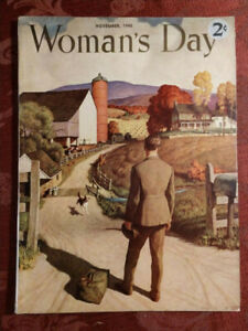 RARE WOMAN's DAY Magazine November 1945 N. C. WYETH Dorothy Canfield McDowell