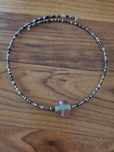 womens-handmade-unique-beaded-plum-color-memory-wire-choker
