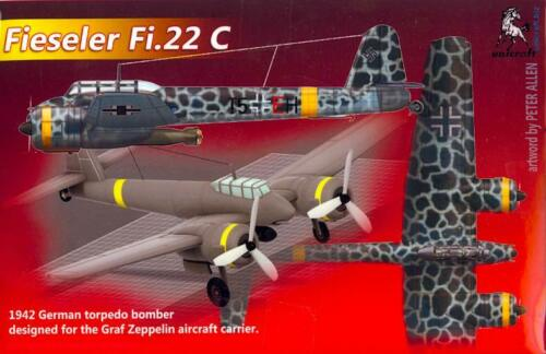 Unicraft Models 1//72 FIESELER Fi-22C German WWII Torpedo Bomber Project