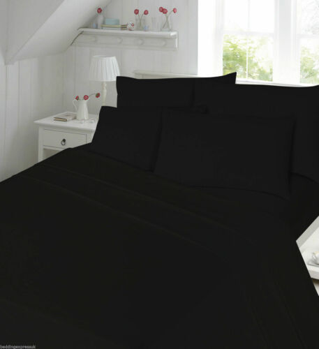 100/% Brushed Cotton Thermal Flannelette 12/'/' 30cm Extra Deep Fitted Bed Sheet