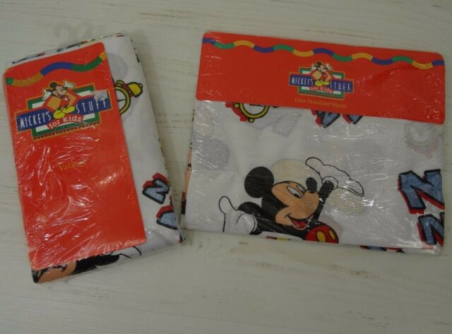 Vintage Mickey Mouse Pillow Sham And Balloon Curtain Valance For Sale Online