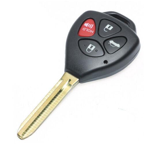 10Pcs For Toyota Camry Avalon Corolla Matrix Venza Yaris 4 Buttons Key Shell Fob