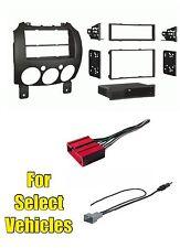 Car Audio Stereo Radio Install Mount Dash Trim Face Kit Combo for 2011-14 Mazda2