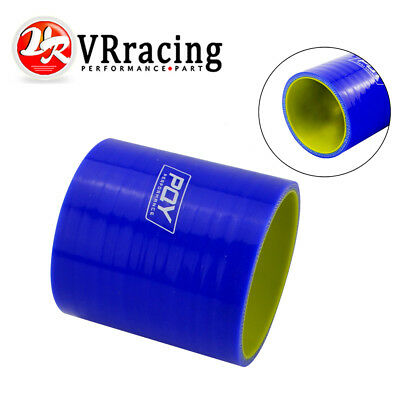 """2.5/"""" Silicone Hose//Intake//Turbo//Intercooler Pipe Straight Coupler BLUE For BMW"""