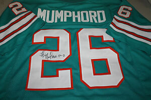 Discount 1972 MIAMI DOLPHINS LLOYD MUMPHORD #26 SIGNED JERSEY 17 0 SUPER BOWL  supplier