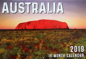 Australia - 2019 Rectangle Wall Calendar 16 Months New Year Christmas Decor Gift 9313559436420