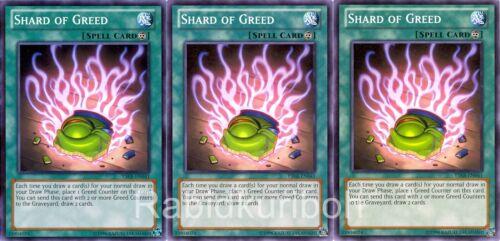 Yugioh 3x Shard of Greed YSKR-EN041 Playset Lot