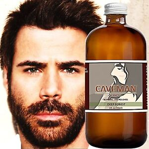 Hand Crafted Deep Forest Beard Oil Conditioner 2oz By Caveman® Beard Care Shave Treatments, Oils & Protectors