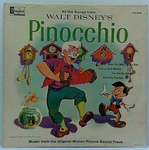 Disney-Pinocchio-Original-Vinyl-LP-Album-1963-Vintage-Film-Soundtrack-VG