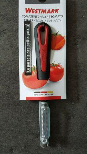 pèle tomate éplucheur à tomate ou kiwi etc,lame oscillante manche noir et rouge