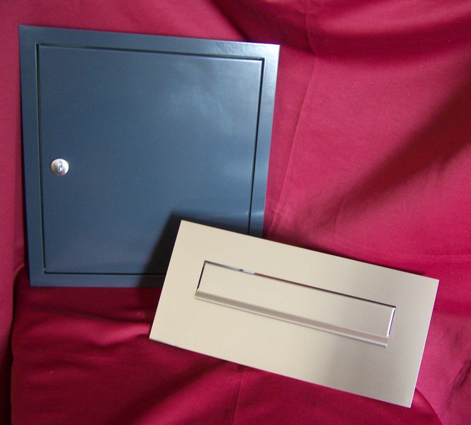 Mauerdurchwurf Briefkasten 300 Komplett Anlage Frontplatte Briefeinwurf KAH60