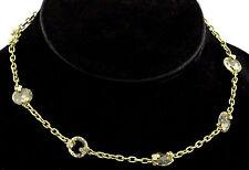 Judith Ripka 18K Yellow Gold 33g Citrine Crystal Diamond Necklace Chain $8,500
