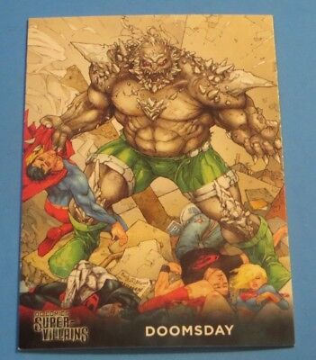 Dc Comics Trading Card Super Villains Doomsday Free Shippng