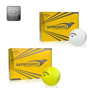 Callaway-hexagonal-Warbird-Pelotas-de-golf-1-Docena-AMBOS-en-blanco-o-NUEVO