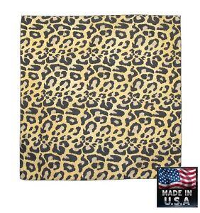 vendita più calda immagini dettagliate comprare Dettagli su Made in USA Leopardato Pelo Stampa 55.9x55.9cm Bandana Sciarpa  Testa Scialle