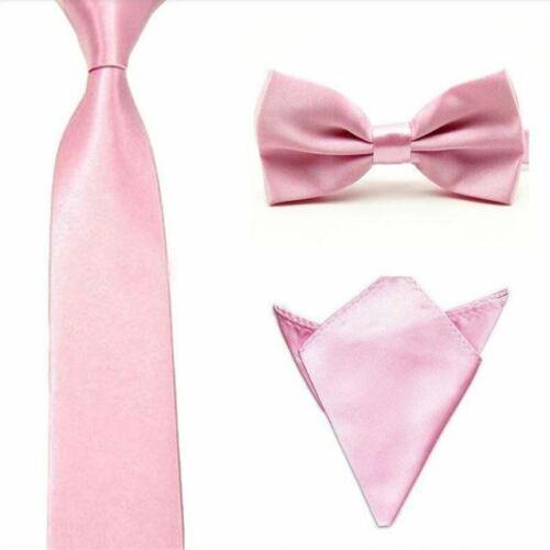 Men Bowties Pocket Squares Elastic Bow Tie Necktie Handkerchief Set