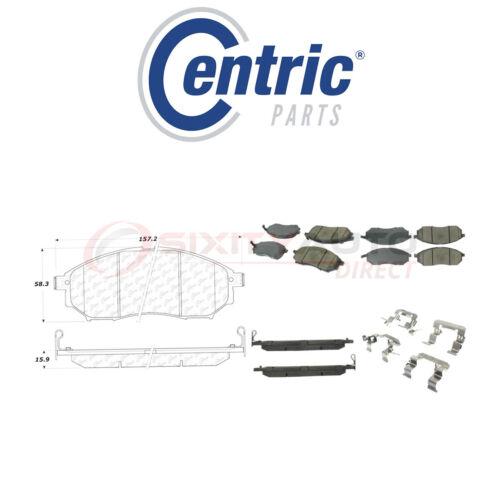 Centric Ceramic Disc Brake Pads w Shims for 2009-2013 Infiniti G37 3.7L V6 dq