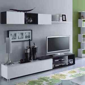 Mueble-de-comedor-salon-moderno-modulo-de-Tv-Blanco-Brillo-y-Gris-Ceniza-Naia
