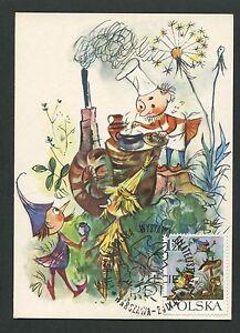 Discreet Polen Mk 1962 MÄrchen HeinzelmÄnnchen Fairy Tales Carte Maximum Card Mc Cm D6013 Cool In Summer And Warm In Winter Animation, Cartoons Stamps