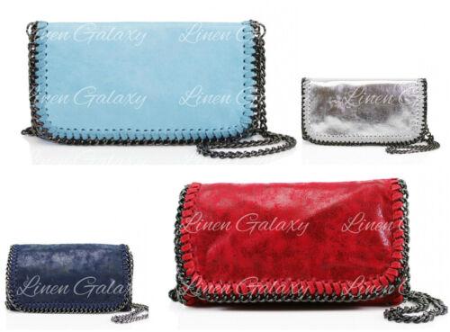932 Stitch Detail Rectangular Women Chain Trim Ladies Cross Body Shoulder Bag
