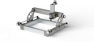 Modularer-CNC-Bausatz-034-Steel-8-034-Baukasten-Bauteile-Portalfraese-Fraese-3D-Drucker