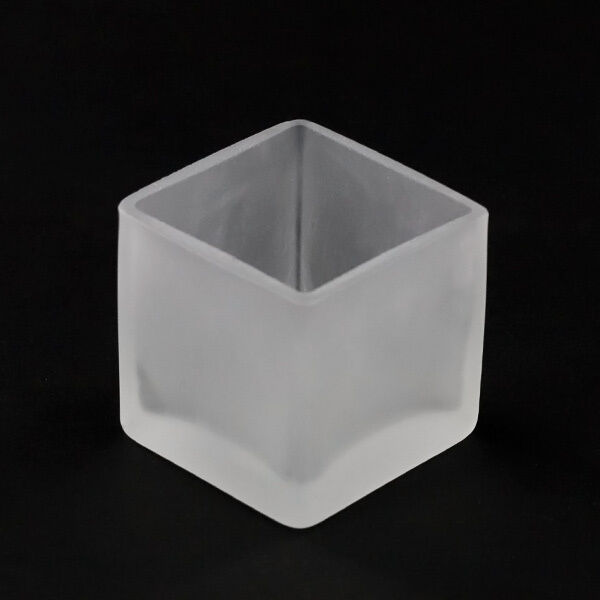 100 Frosted Glass 5cm Square event party wedding tealight candle holder BULK BUY