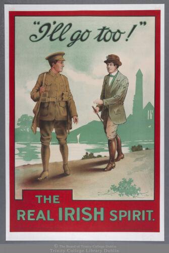 I/'ll Go Too The Real Irish Spirit 10 World War II Poster
