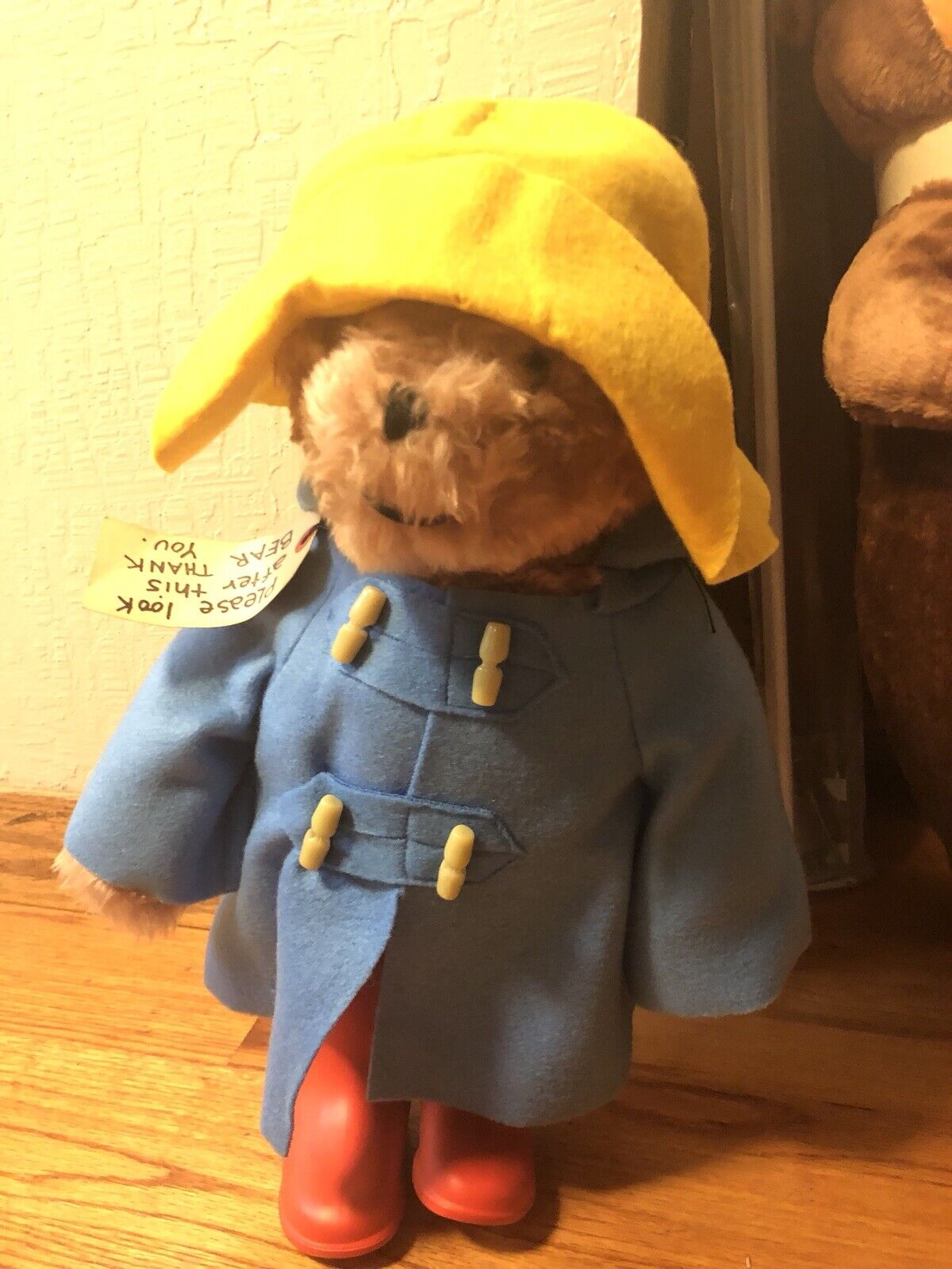 1975 Paddington Bear 20  rot Stiefel - Darkest Peru to London England Eden Toys
