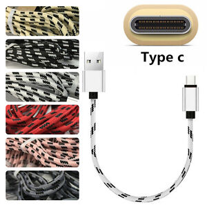 1FT-Short-Strong-Braided-USB-C-3-1-Type-C-Data-Snyc-Charger-Quick-Charging-Cable