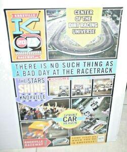 2013 KNOXVILLE RACEWAY POSTER SPRINTCAR HEAVEN OUTLAWS NATIONALS KINSER SCHATZ