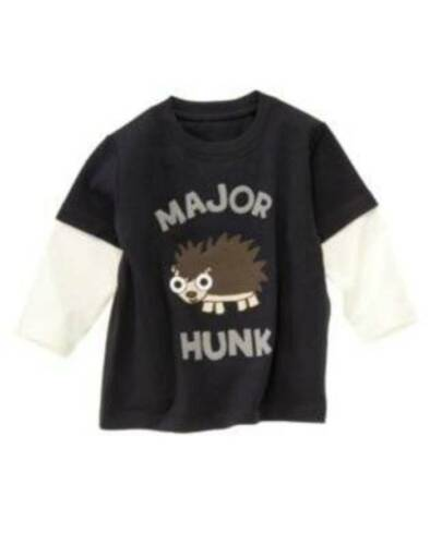 NWT Gymboree Boy/'s Navy Major Hunk Porcupine Shirt Various Sizes Available