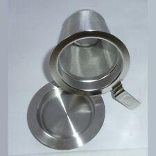 Edelstahl Dauerfilter S ca. 5,6 cm Teefilter mit Deckel / Abstellteller