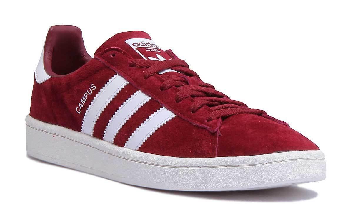 Adidas Campus Damens Suede Leder Burgundy Trainers B 8 Grade UK Größe 3 - 8 B e0cc0d