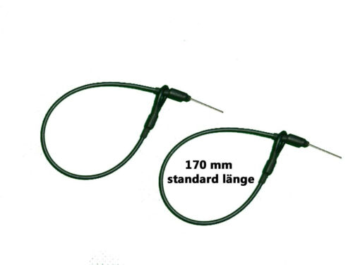 200 Stahlschlaufen schwarz 170mm  Warensicherung Artikelsicherung Lanyard EL004