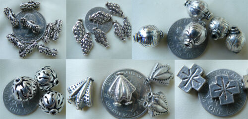 Sterling Silver fancy beads unique shapes well crafted limited supply close-outs