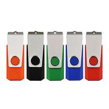 5PCS Swivel Design 8GB USB 2.0 Flash Drive Rotating Flash Memory Stick Thumb Pen
