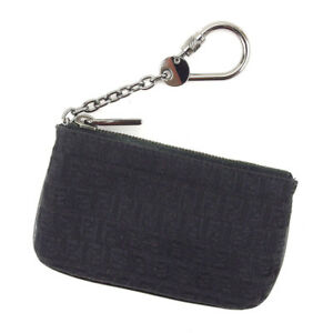 Fendi Wallet Purse Coin Purse Zucchino Black Woman unisex Authentic ... 08521f9917da8