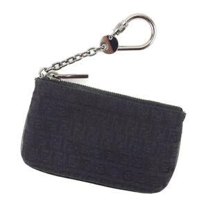Fendi Wallet Purse Coin Purse Zucchino Black Woman unisex Authentic ... 08521f9917da8