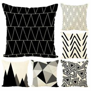 Am-Geometric-Print-Soft-Linen-Throw-Pillow-Case-Cushion-Cover-Art-Home-Decor-Bo