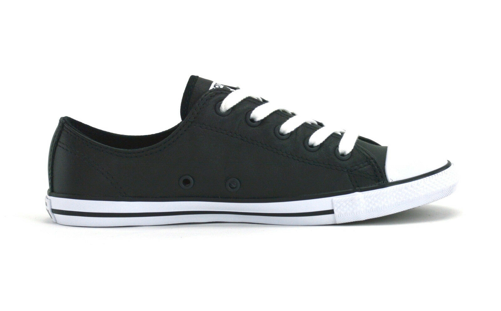 b6bffb7ce0f3 Converse Chuck Taylor All Star Dainty Black Leather Trainers 7 UK ...