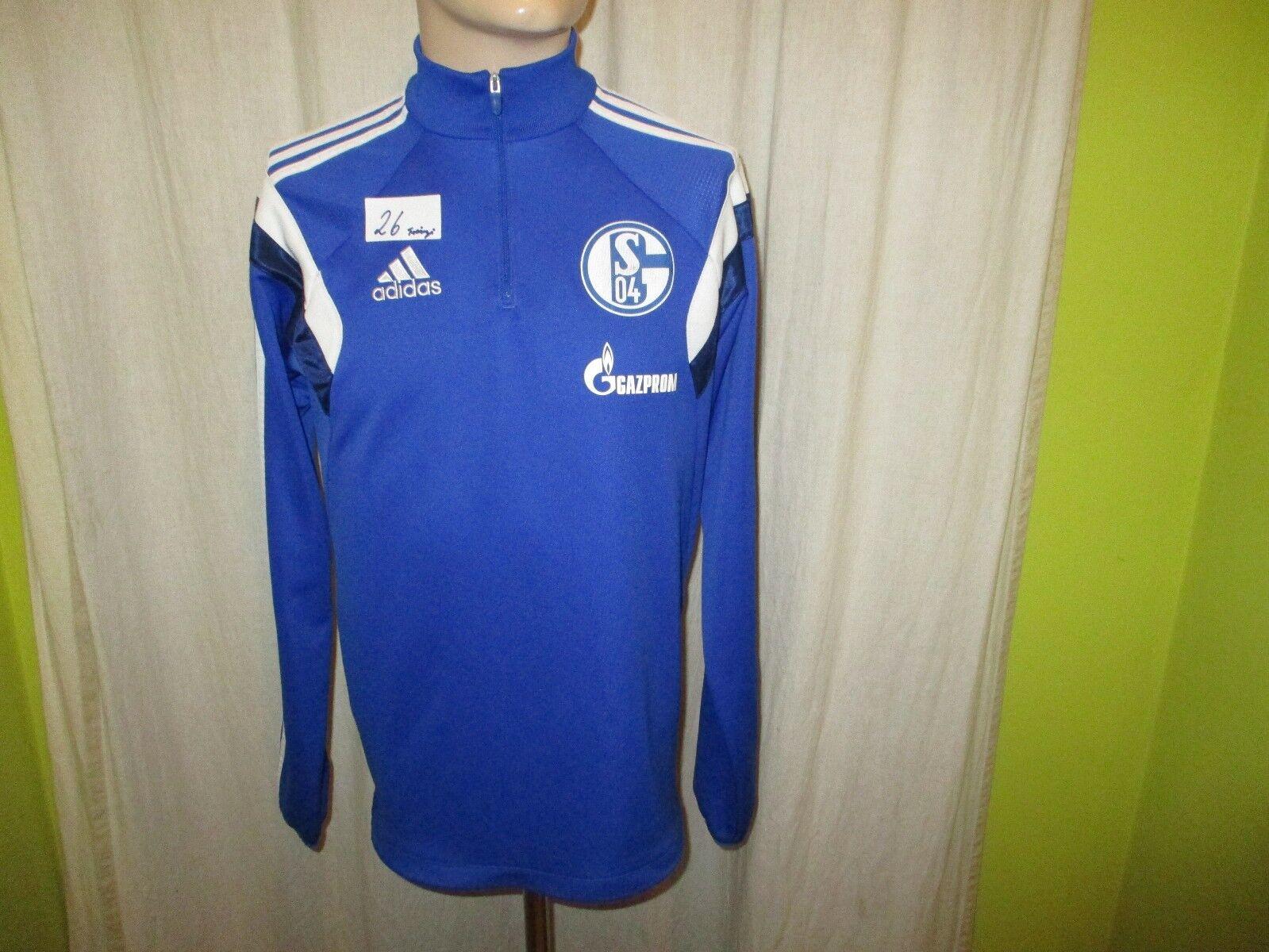 FC Schalke 04 Adidas Spieler Freizeit-Training Zipper Jacke 2014 15 Gr.S TOP