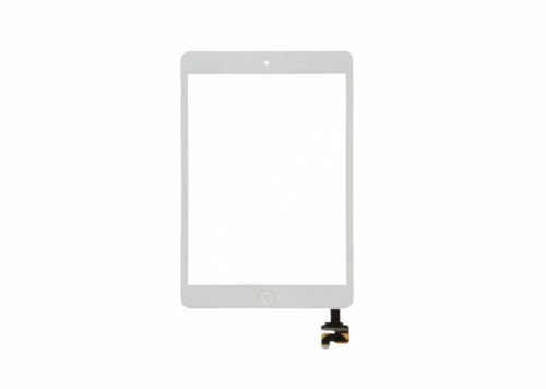 iPad Mini 1 2 White Touch Glass Digitizer Screen Home Button IC Connector