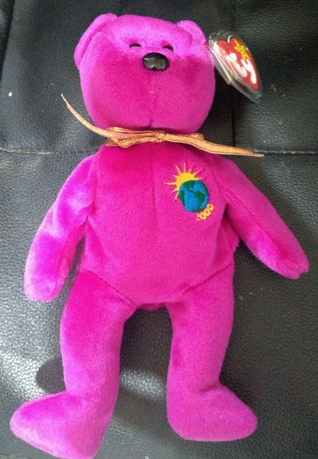 TY Beanie Baby Rare Millenium Bear with Tag