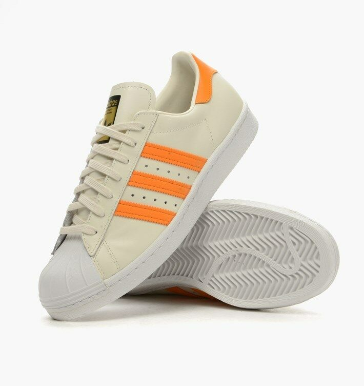 ADIDAS ORIGINALS SUPERSTAR 80S EQUIPMENT ORANGE S75842 MEN'S SIZES 10 AND 11