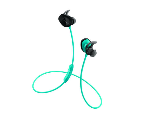 Bose Soundsport Bluetooth Wireless Earbuds, Sweat resistant headphones Aqua Blue