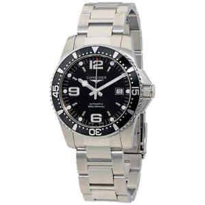 Longines-HydroConquest-Automatic-Black-Dial-Men-039-s-Watch-L3-742-4-56-6