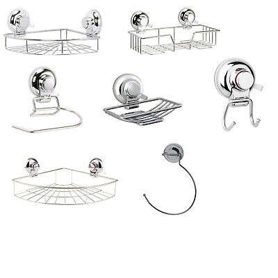 Super Suction Wall AccessoriesNo Drilling Required Gecko Bathroom