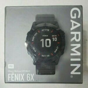 Garmin Fenix 6X Pro Premium Multisport GPS Watch - Black