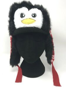 e5e8ca5f8 Details about ABG ACCESSORIES Kids' Penguin Trapper Hat Red - Christmas,  Holiday